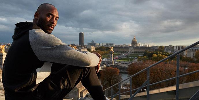 Kobe Bryant lors de son dernier passage à Paris 2017 / Crédit : Cyril Masson