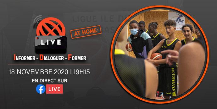 Afin d'accompagner l'ensemble des acteurs du basketball francilien dans cette nouvelle épreuve collective difficile, Sabine Juras, préparatrice physique du Pôle France Basketball, sera à nos côtés le mercredi 18 novembre 2020 à 19h15 en direct sur Facebook pour la douzième édition d'IDF'Live.