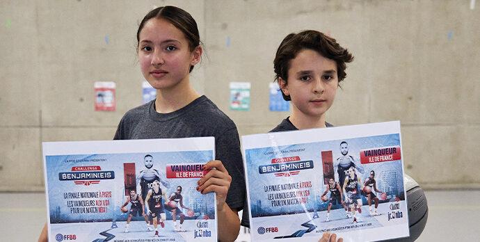 Inès et Hippolyte tiennent leur billet pour la finale nationale du Challenge Benjamin(e)s